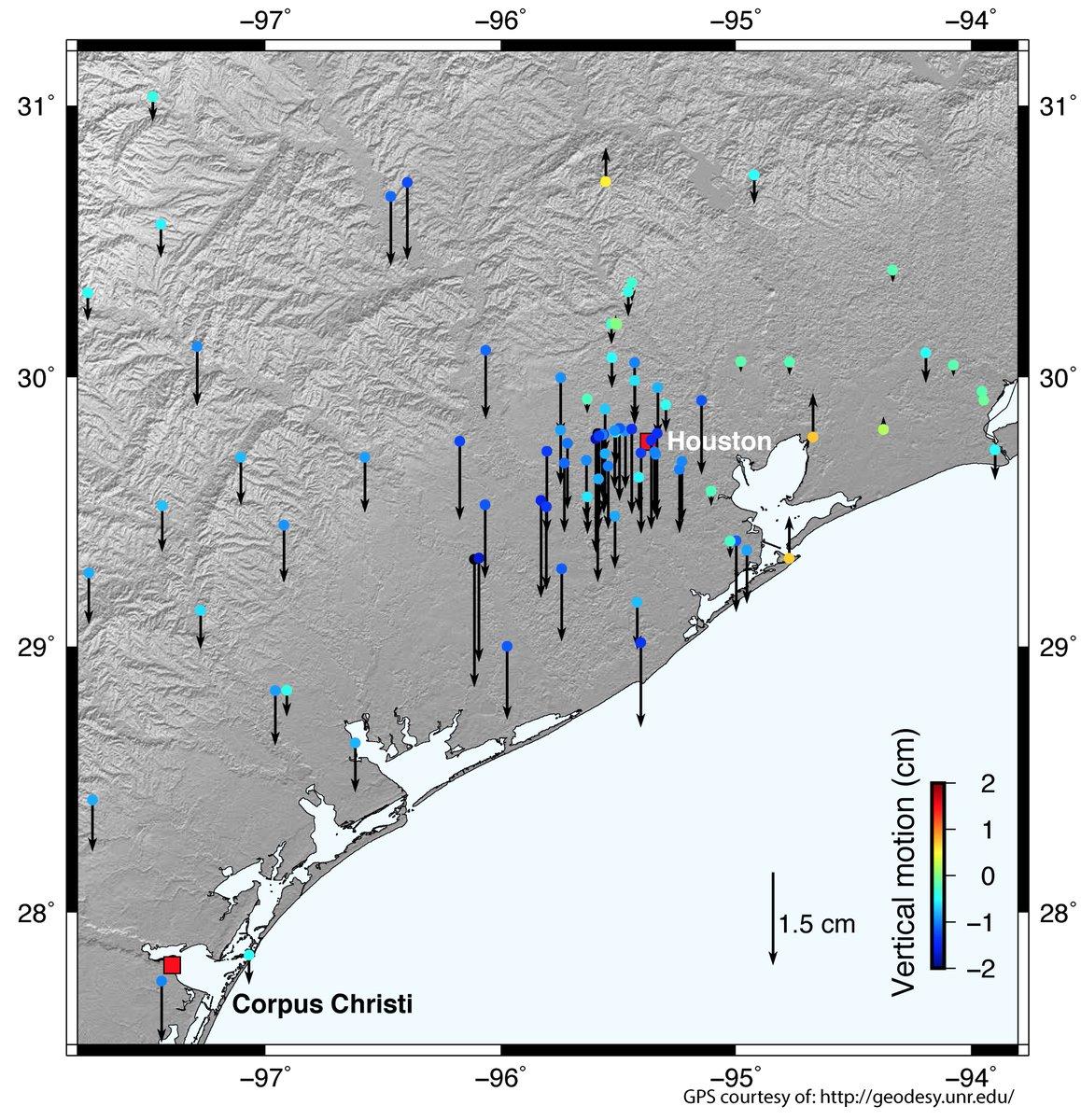 Annyit esőt hozott a Harvey hurrikán, hogy 2 centivel lejjebb nyomta Houstont és környékét