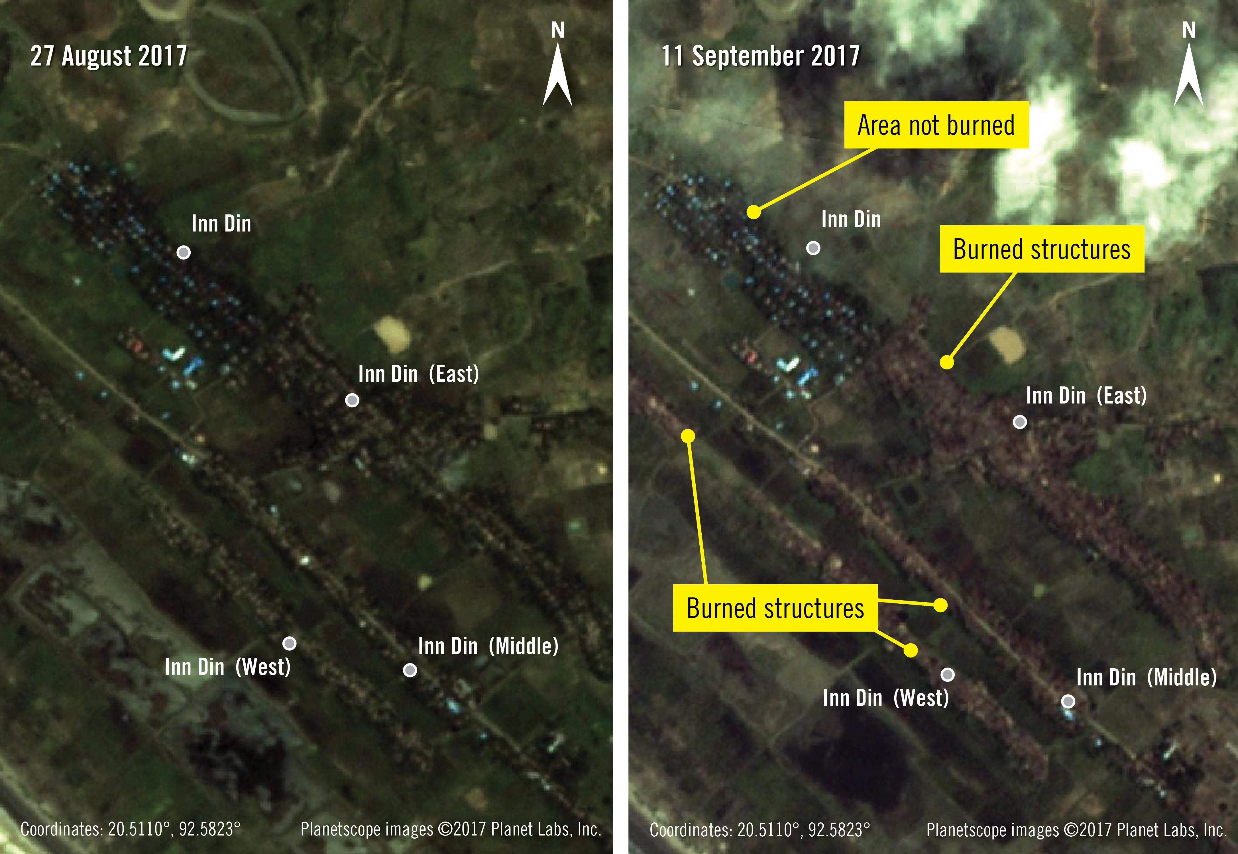 Műholdfelvételek bizonyítják a mianmari etnikai tisztogatást