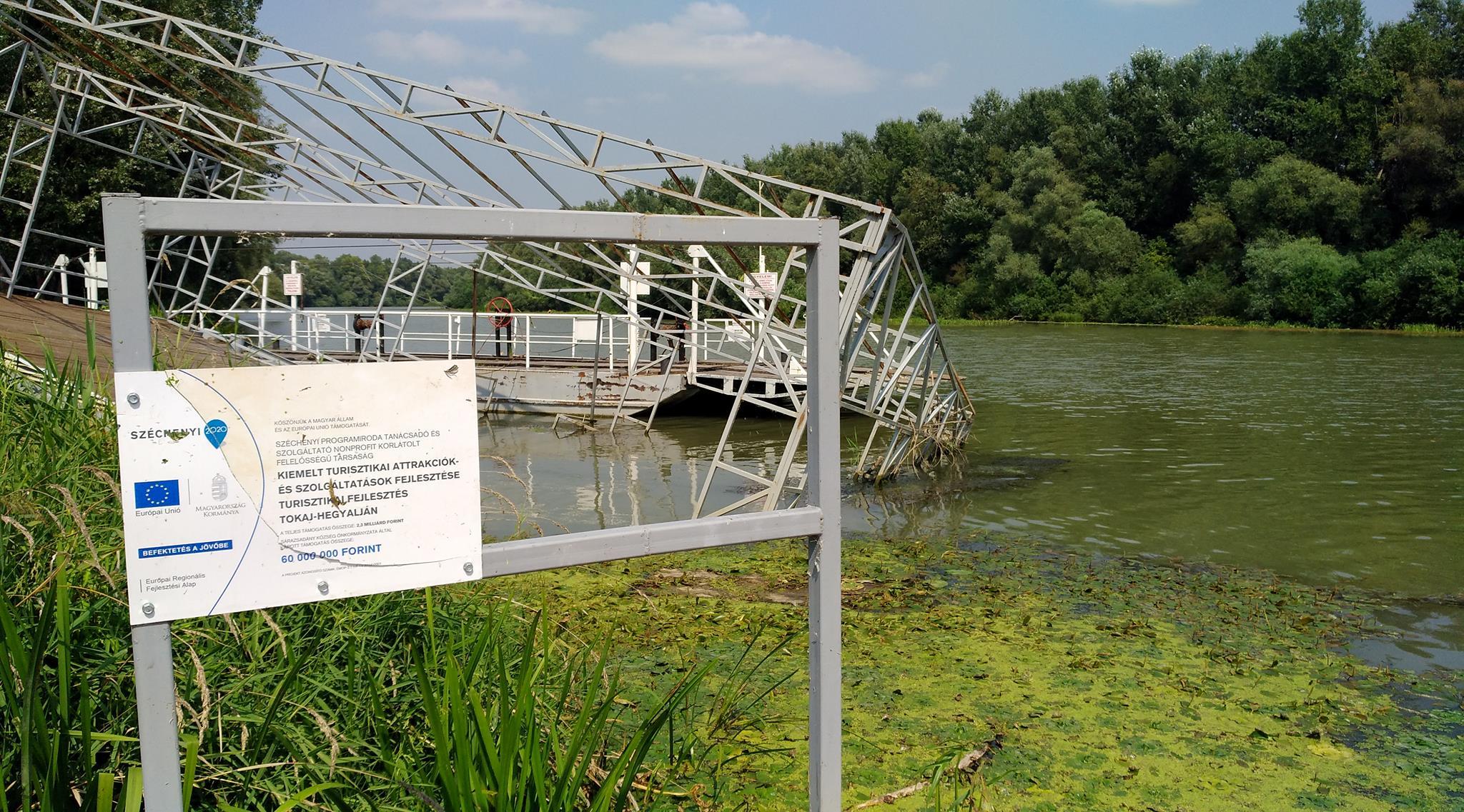 Sárazsadány három éve épített egy vízi központot, ami most így néz ki
