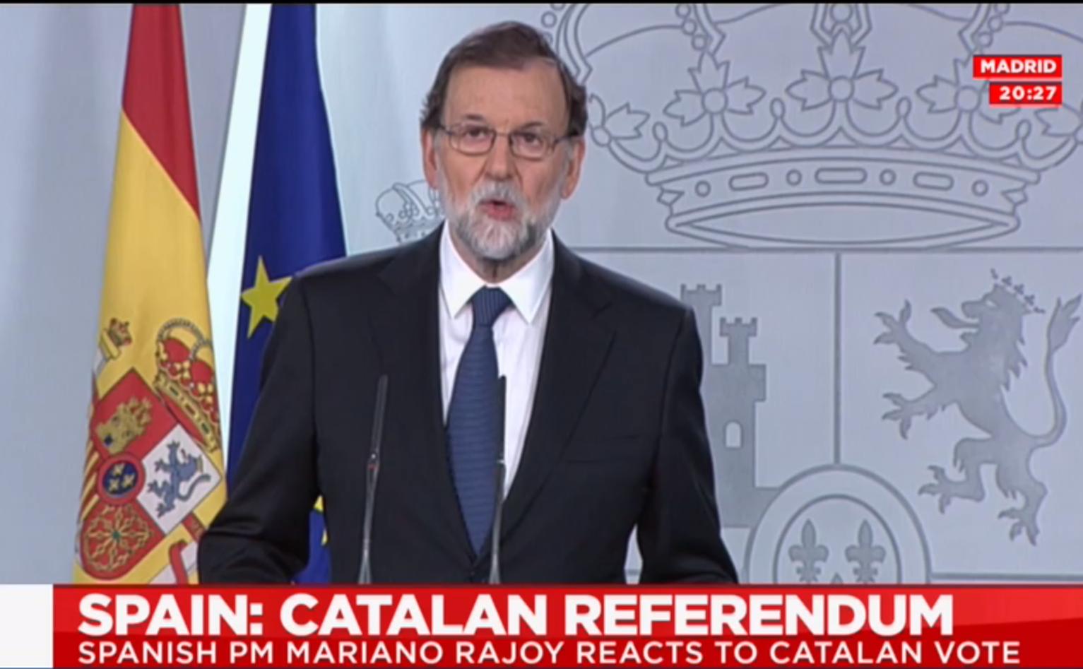 A spanyol kormányfő szerint nem volt népszavazás Katalóniában
