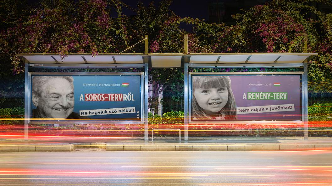 Pozitív kampánnyal vág vissza a kormány gyűlöletkeltő plakátjaira a Momentum