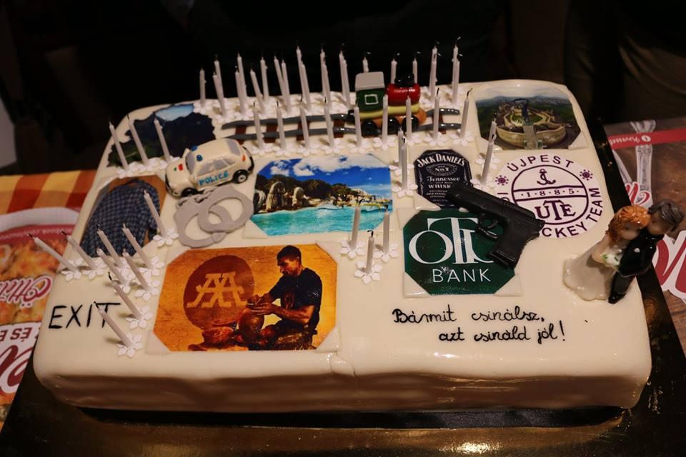 """Ambrus """"A viszkis"""" Attila fantasztikus tortát kapott az 50. születésnapjára"""