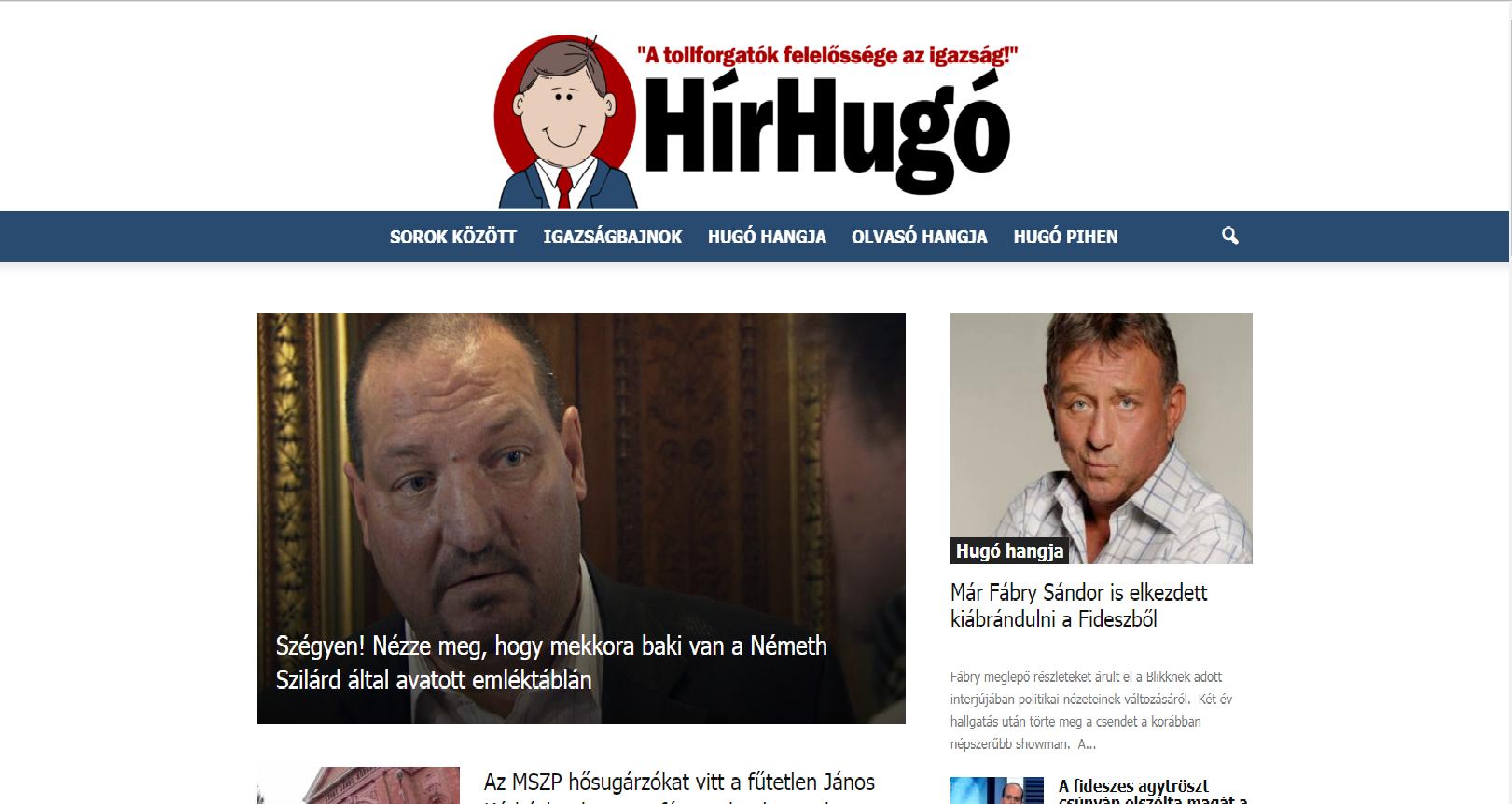 Az MSZP titkos fegyvere egy weboldal: halálos röhögtetéssel csinálja ki a Fideszt és az olvasót a Hír Hugó