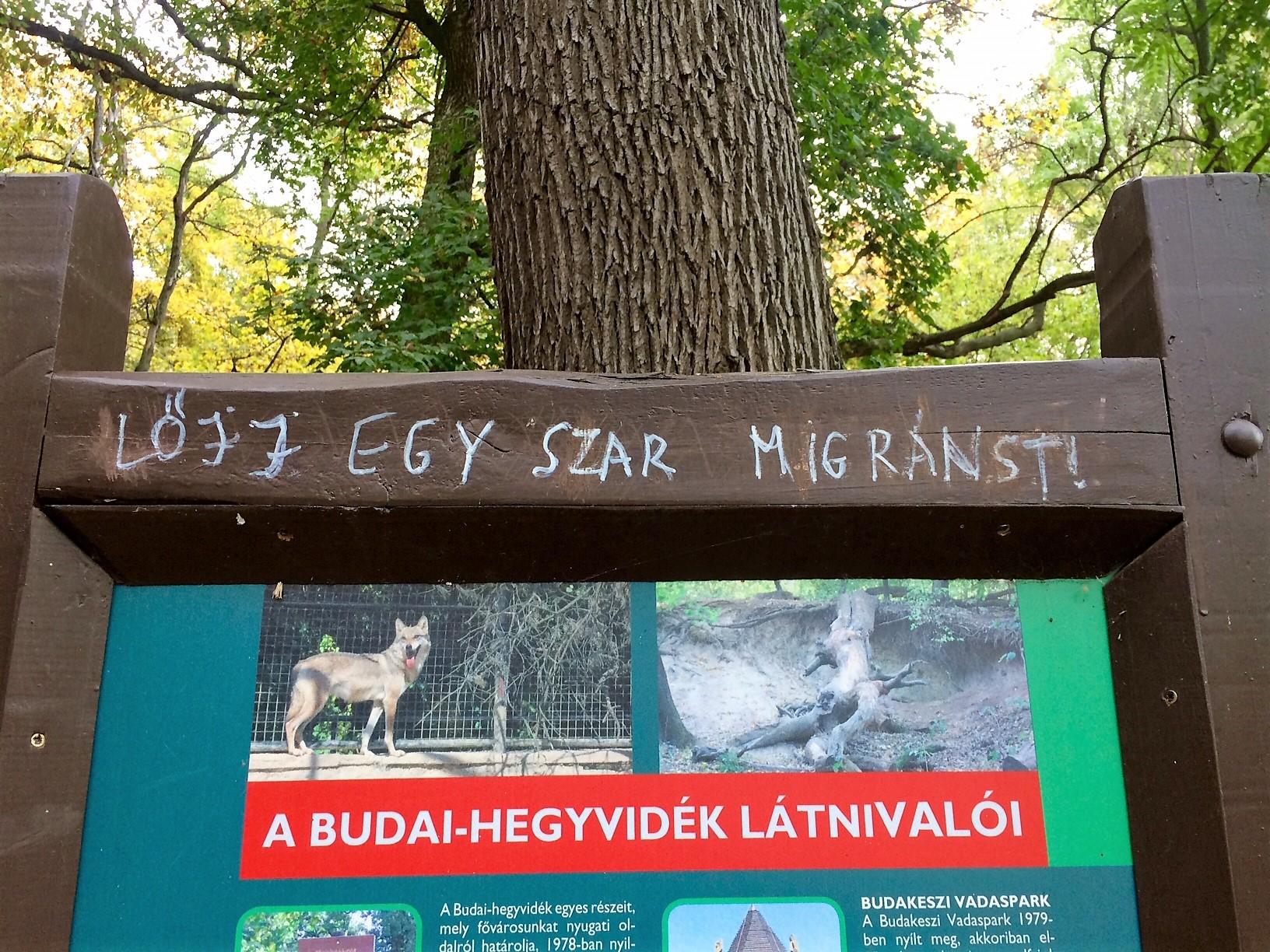 Trágár gyűlöletösvénnyé változott a gyerekvasúttól a Hűvösvölgyi nagyrétre vezető út