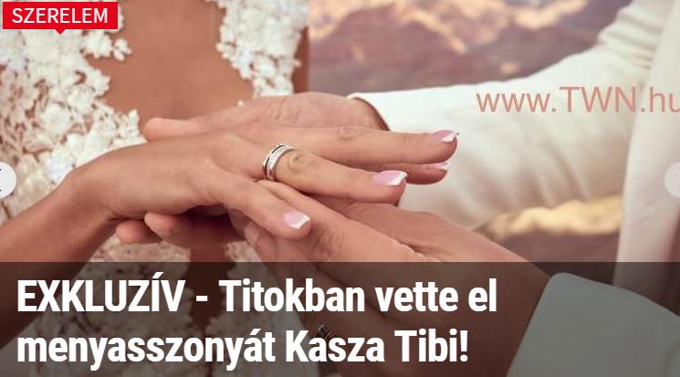 """""""Titokban vette el menyasszonyát Kasza Tibi!""""- tudta meg elsőként Kasza Tibi vadonatúj bulvárlapja"""