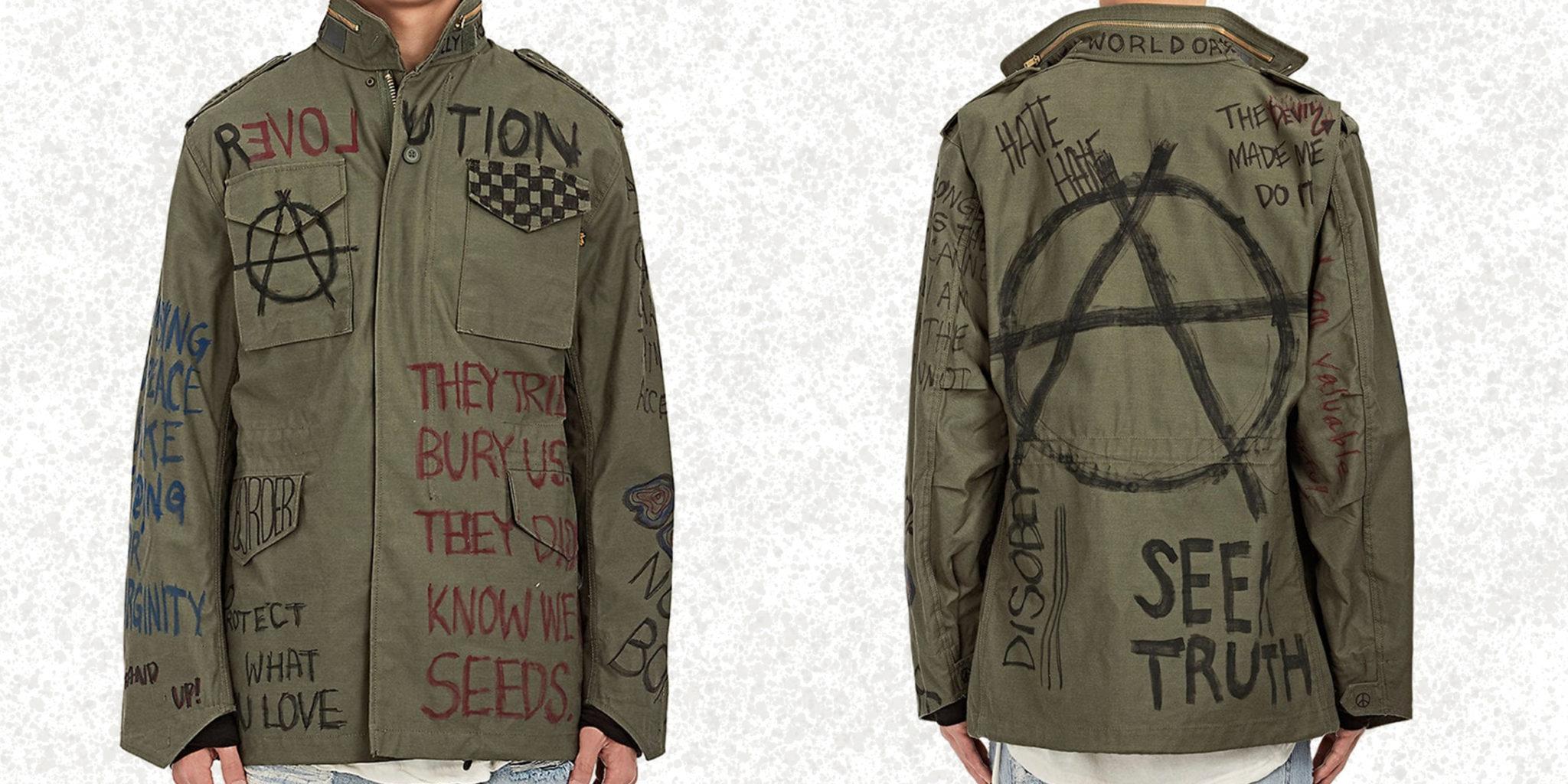 Tényleg százezer forintért árulják ezt az összefirkált anarchista dzsekit