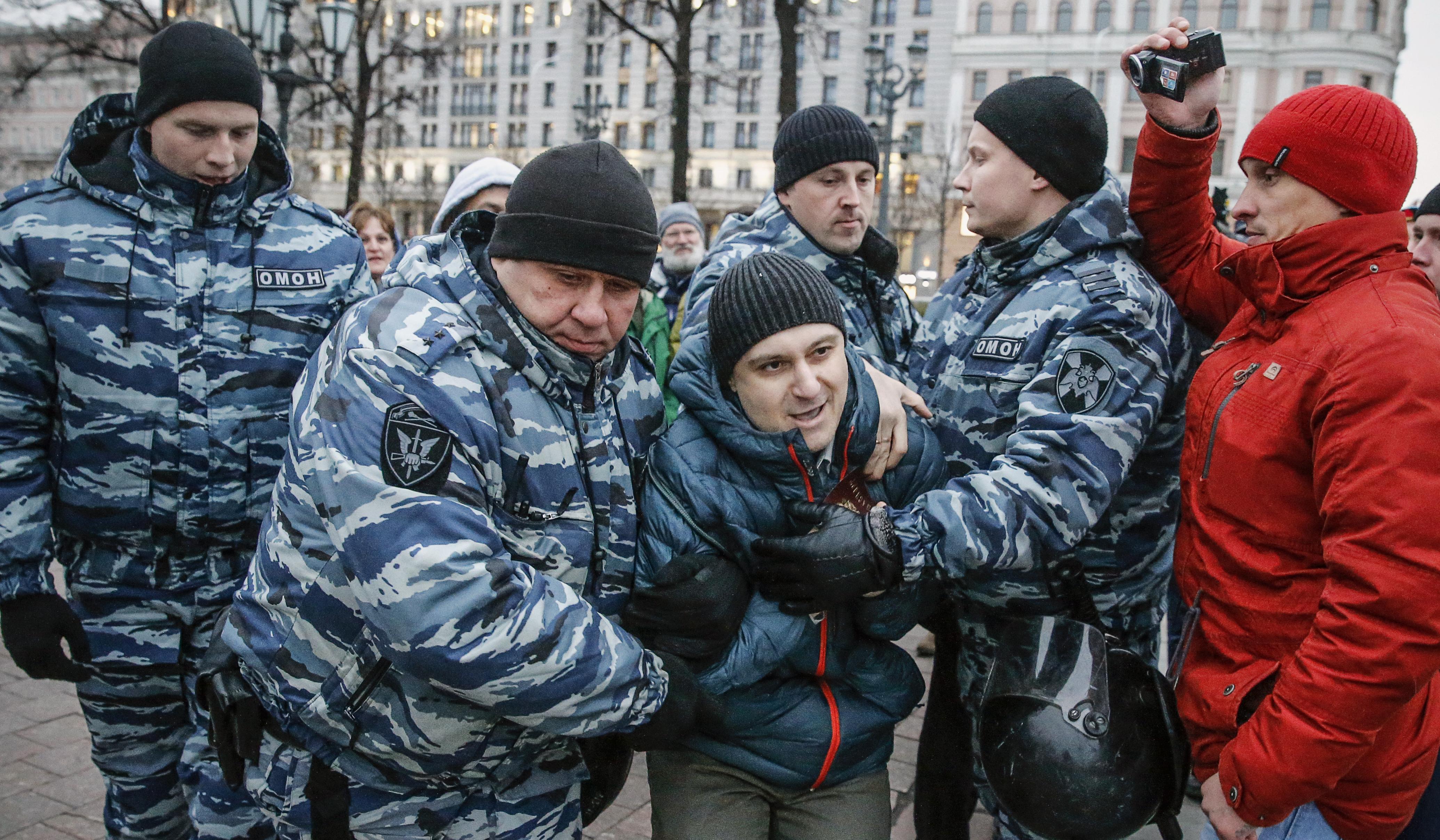 263 nacionalistát vettek őrizetbe Oroszországban