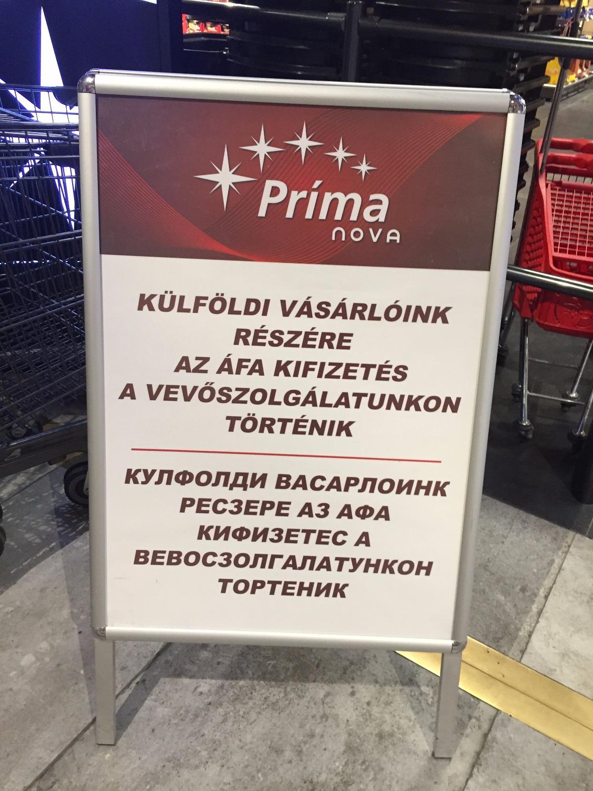 Hihetetlen, de nem volt kamu a szegedi CBA-ben fotózott cirillbetűs tábla