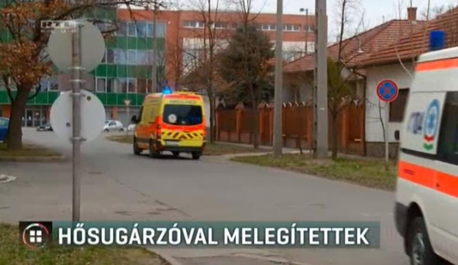 Hősugárzóval fűtenek a csepeli mentők