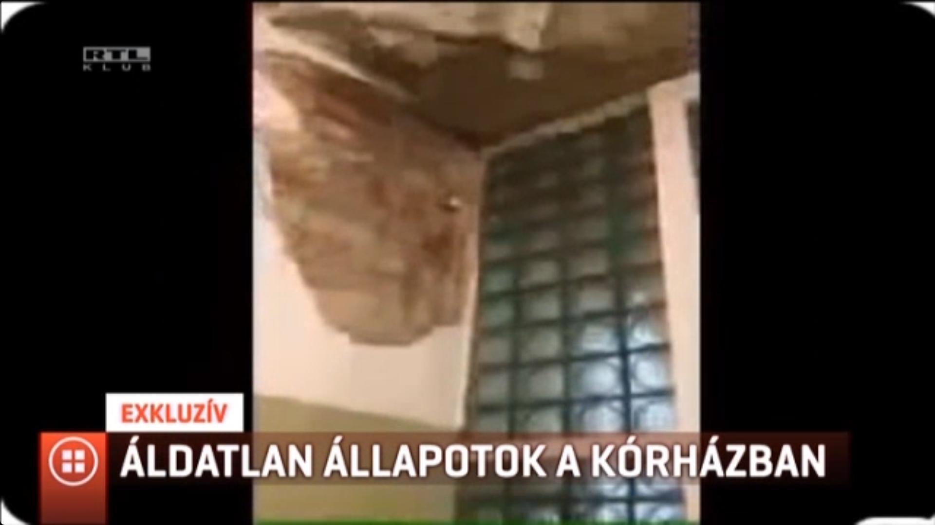 Beázott a műtő a Szent János Kórházban, a mennyezetről csepeg a víz