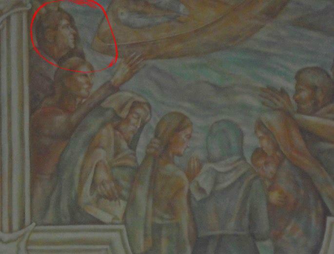 Valaki feltűnően hasonlít a polgármesterre az őrhalmi templom freskóján