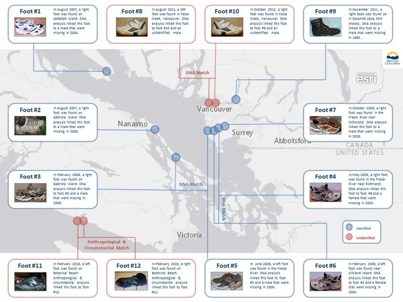 Miért sodor ennyi emberi lábat partra a tenger Vancouver környékén?