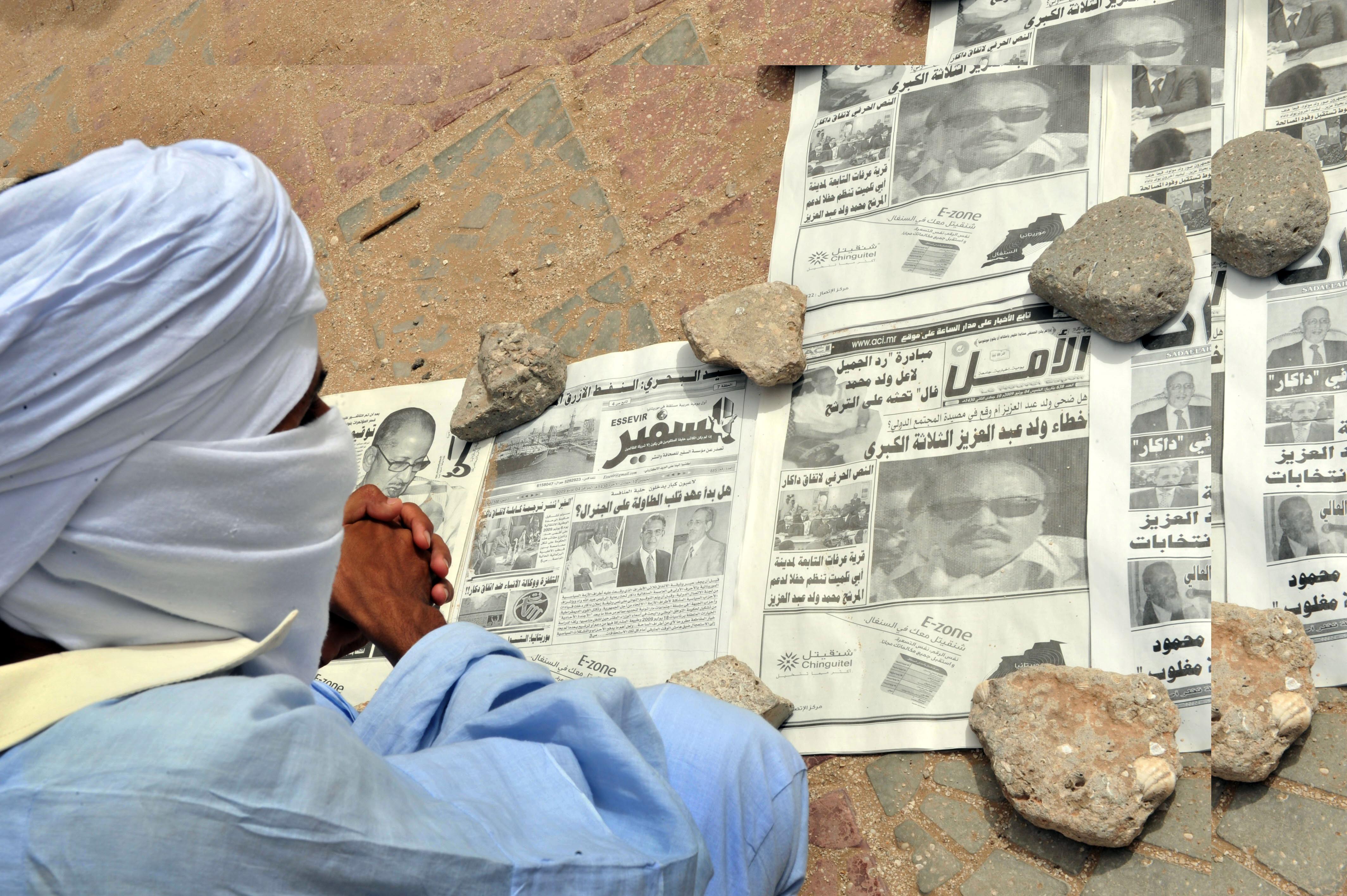 Az újságírók szerint a mauritániai kormány azért nem kezeli a papírválságot, hogy ne legyen mire nyomtatni a független lapokat