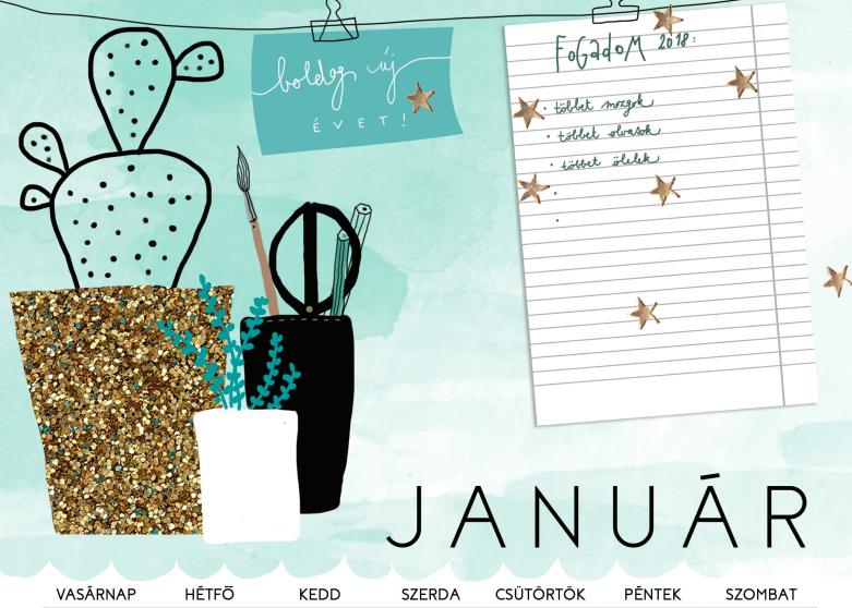 Itt egy csodaszép naptár 2018-ra, amit ingyen letölthetsz