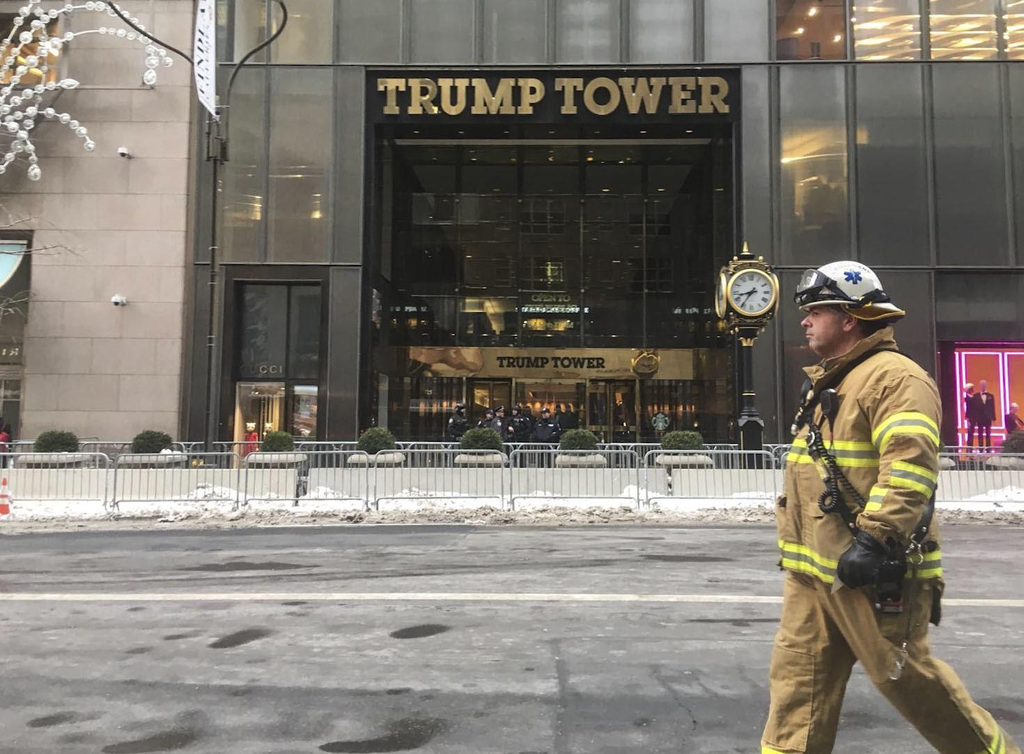 Tűz volt a Trump Towerben