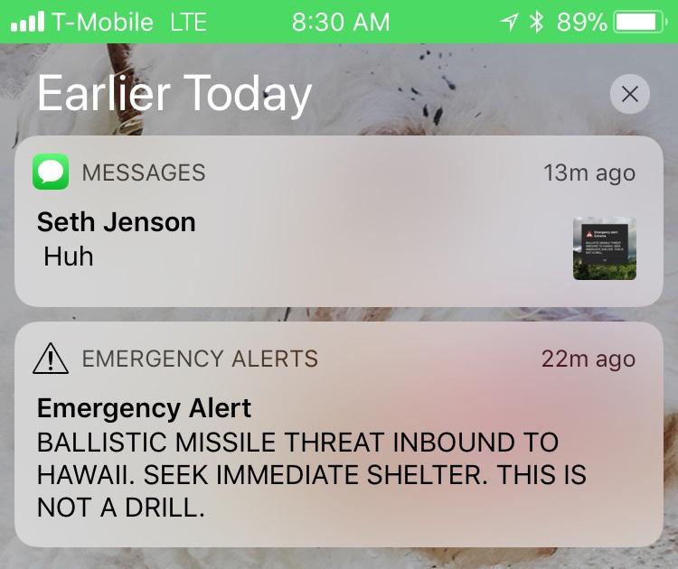 Véletlenül rakétariasztást adtak ki Hawaii-on