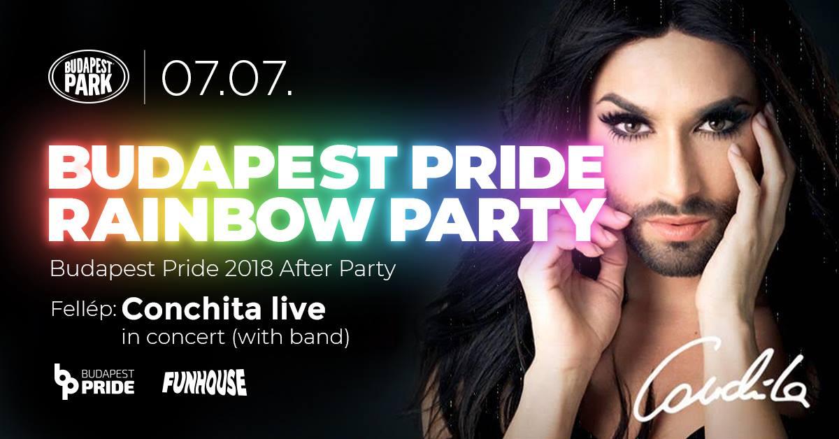 Conchita Wurst koncertje zárja az idei Budapest Pride-ot
