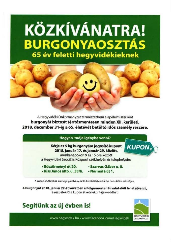 Hegyvidéken az önkormányzat szervez krumpliosztást, de valamiért a Fidesz hirdeti