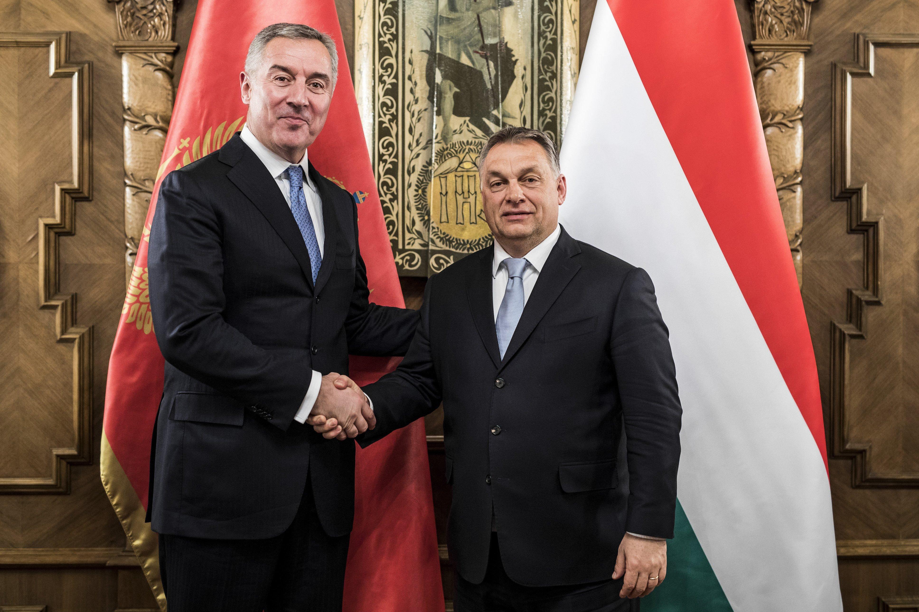 Orbán fogadta Đukanovićot