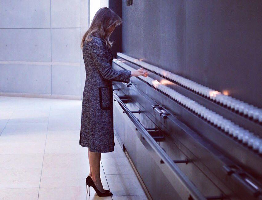 Melania Trump Davos és a férje helyett a Holokauszt Múzeumot választotta