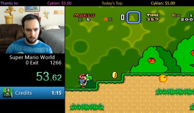 Világrekord: kevesebb mint 1 perc alatt végigvitte a Super Mario Worldöt