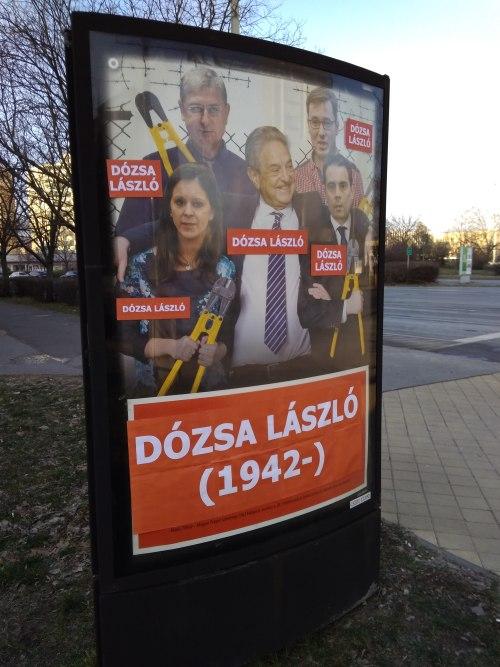 Ismét lecsapott a szolnoki plakáthekker: együtt bontaná le az ellenzék Dózsa Lászlót