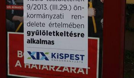Az NVB megbírságolta a kispesti önkormányzatot, amiért a kerületben leragasztották a Fidesz plakátját
