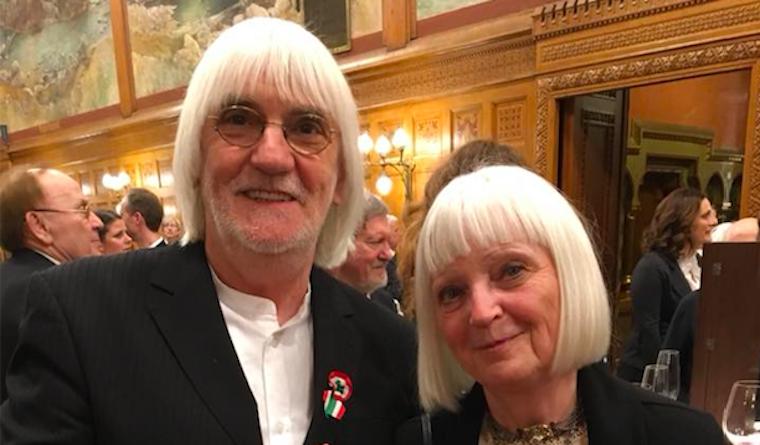 Csodás páros hajat villantott a Parlamentben Péreli Zsuzsa és Tolcsvay László