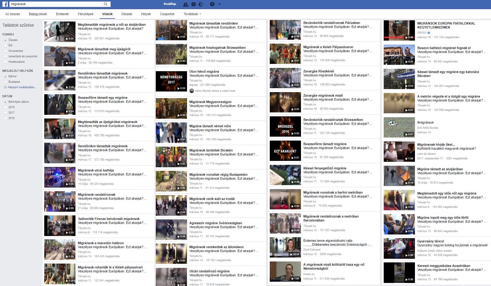 A Facebookon és a Youtube-on már tömeges, rasszista agymosás folyik őrjöngő arabok és feketék hamisított videóival
