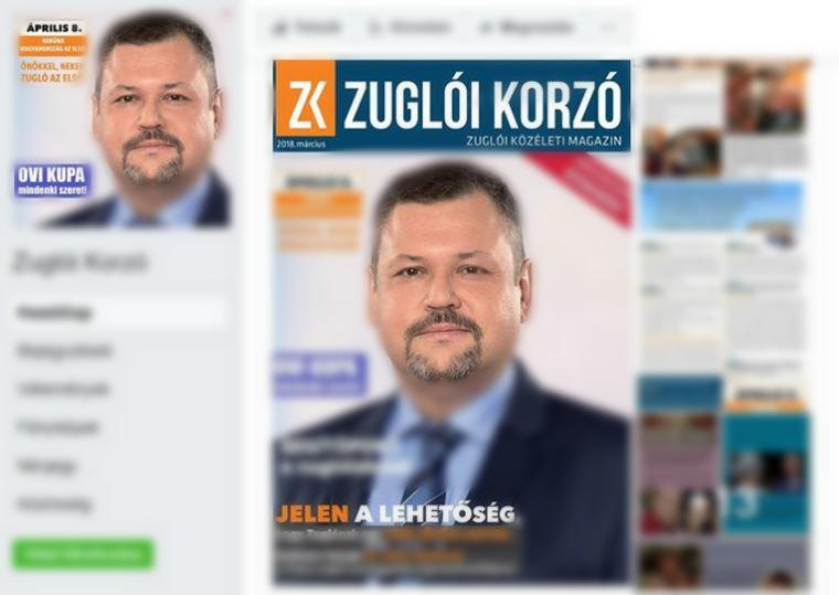 """A zuglói """"közéleti magazinnak"""" még a facebookos profilképe is a fideszes jelölt arca"""