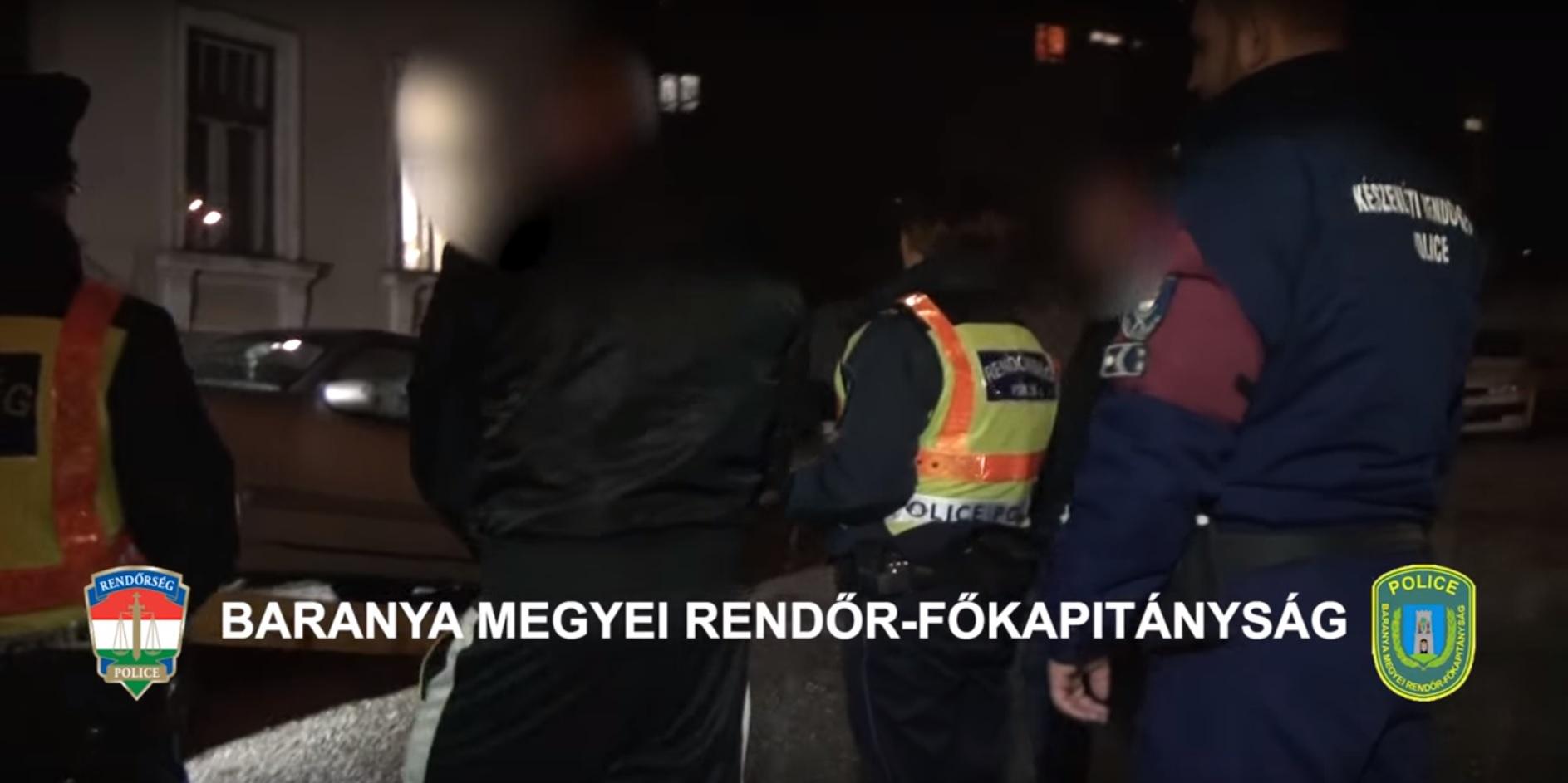 Fegyverrel támadt parkolóőrökre egy férfi Pécsett, mert ellenőrizni akarták