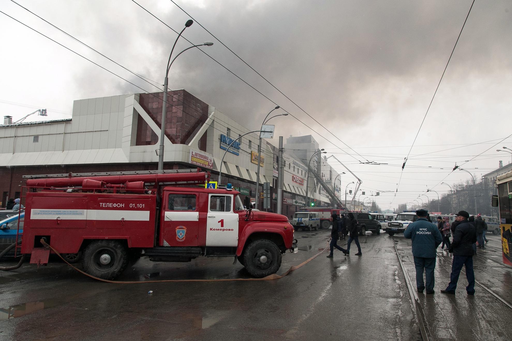 48-ra nőtt az orosz plázában kitört tűzvész áldozatainak a száma