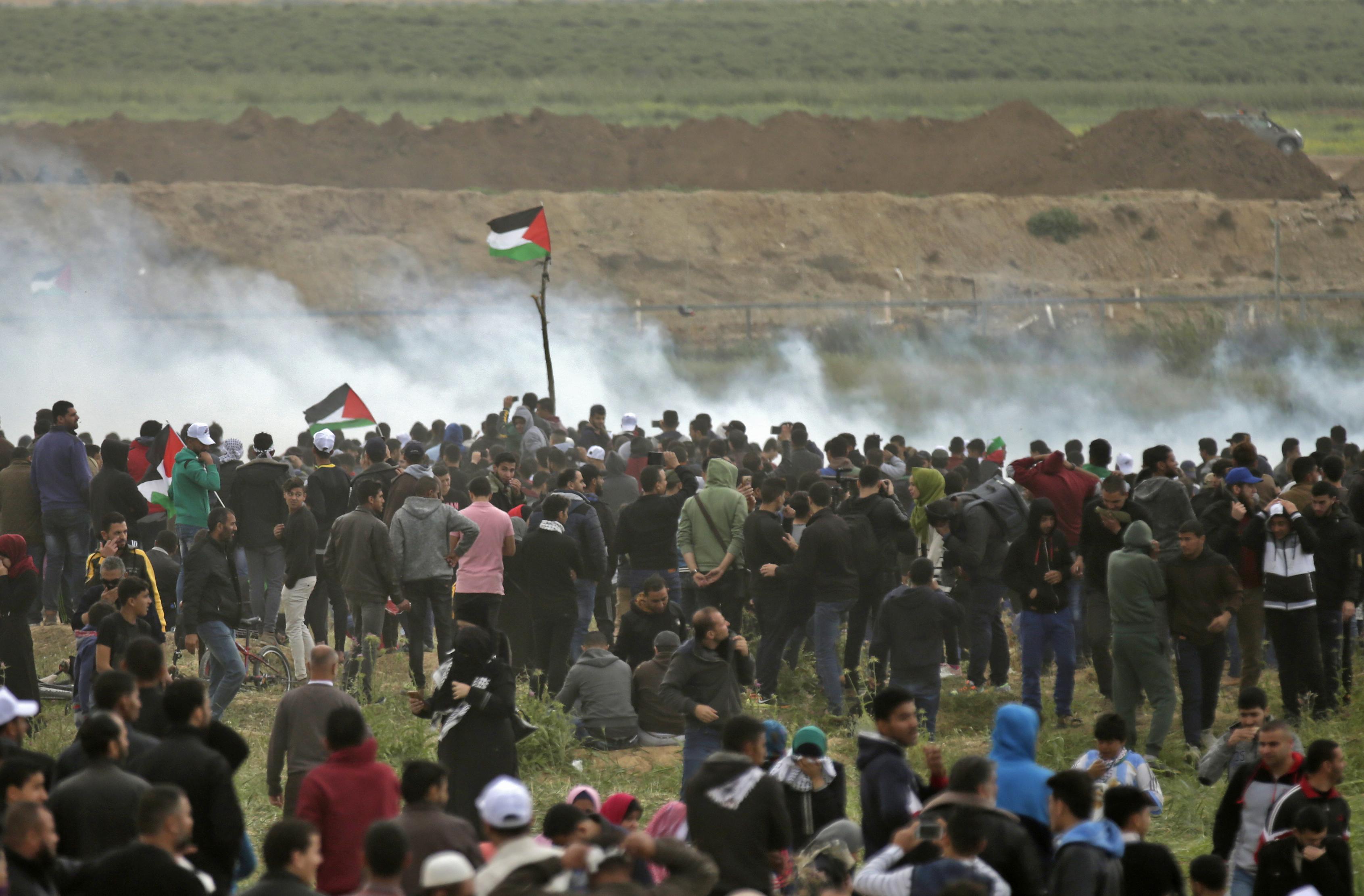 16 palesztin tüntető halt meg az izraeli határnál
