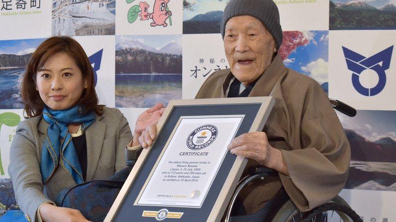 Jelenleg ez a japán úr a világ legidősebb embere