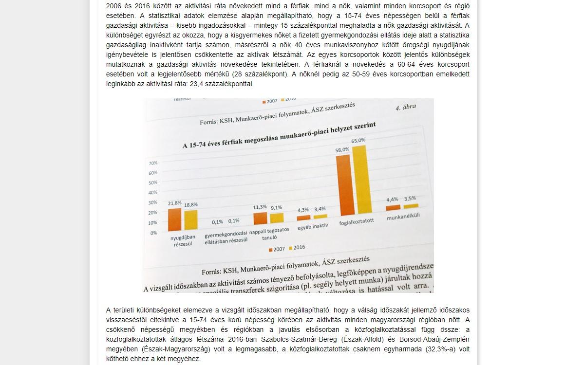 Az ÁSZ kiadott az elemzéséről egy összefoglalót, amibe a nyomtatott anyagból fotózták ki a grafikonokat