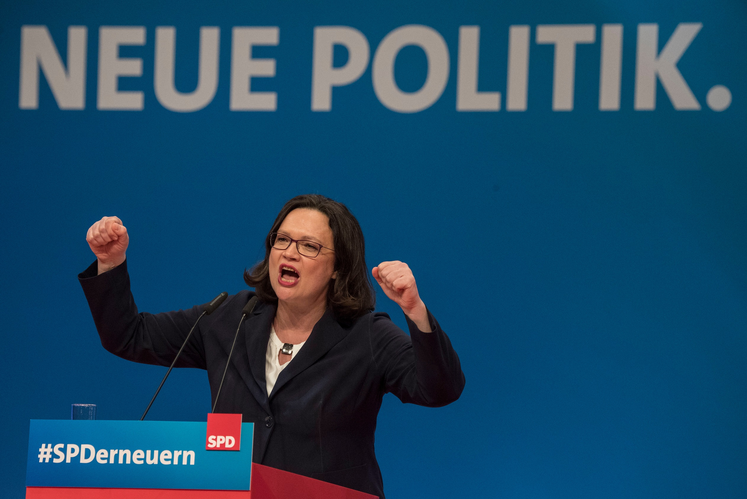 Andrea Nahles az SPD első női elnöke