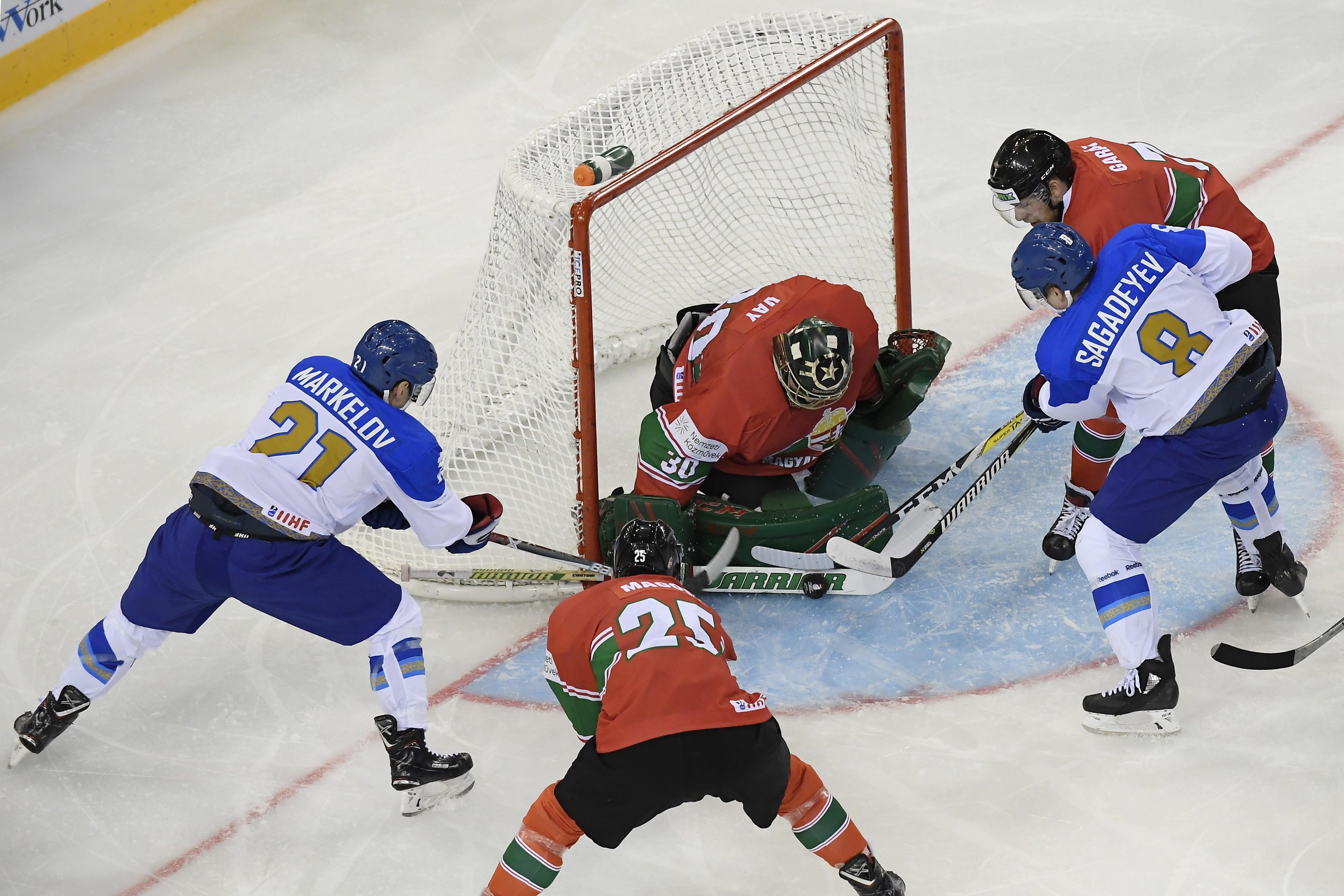 Kazahsztán 3-0-ra legyőzte Magyarországot a budapesti jégkorong-vb-n