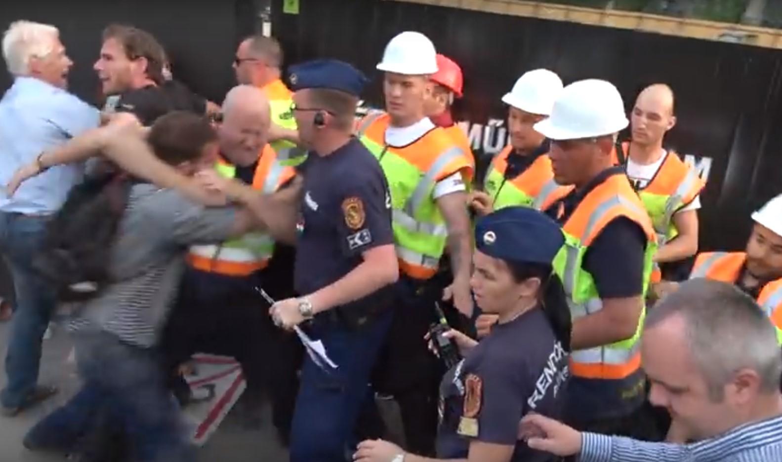 A Valton biztonsági őrei szétvertek egy demonstrációt a Ligetben