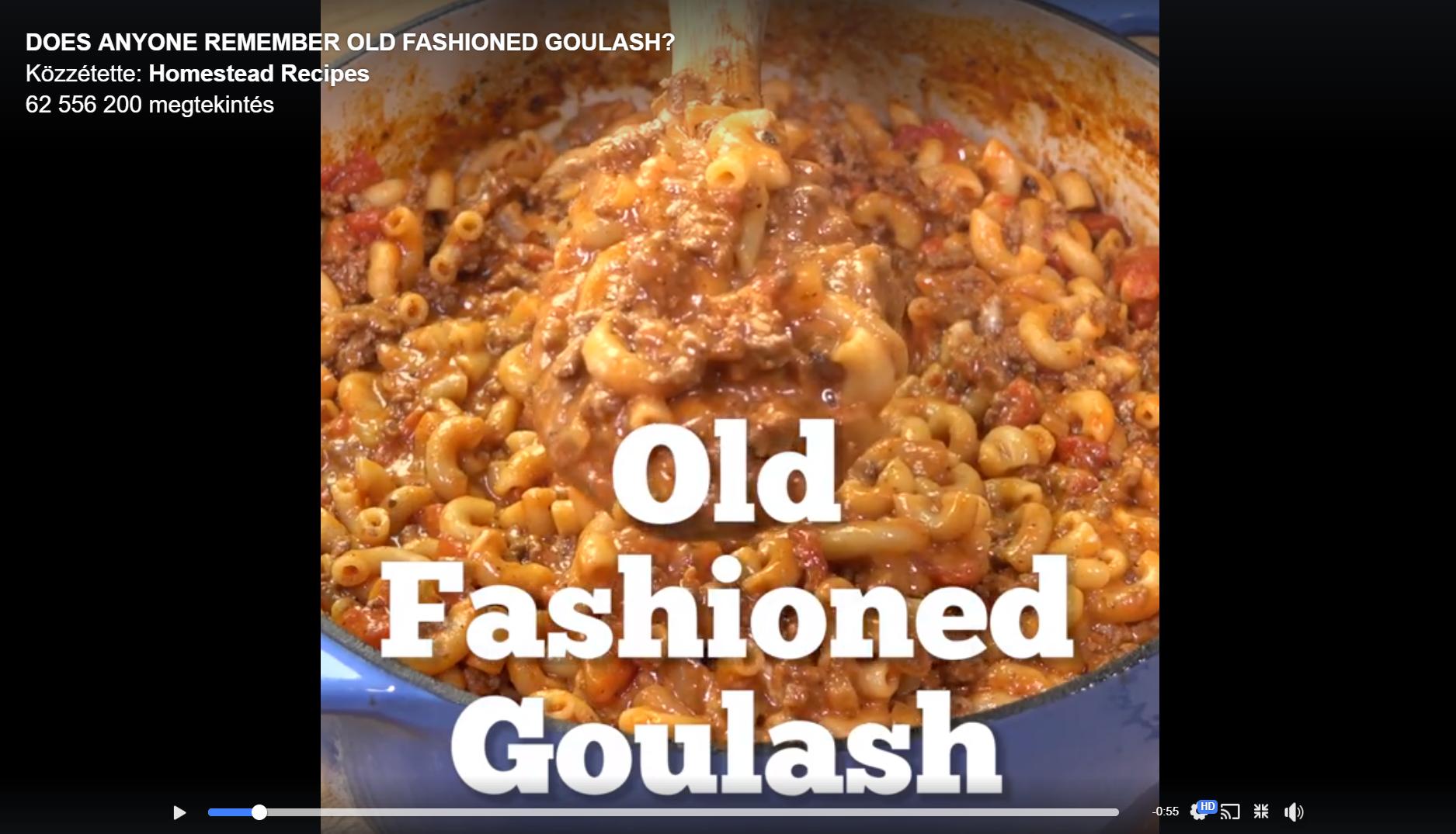 """Eddig 62 millióan látták a Facebookon a """"régimódi gulyás"""" receptjét sok cheddar sajttal, mozzarellával, darált pulykahússal és más finomságokkal"""