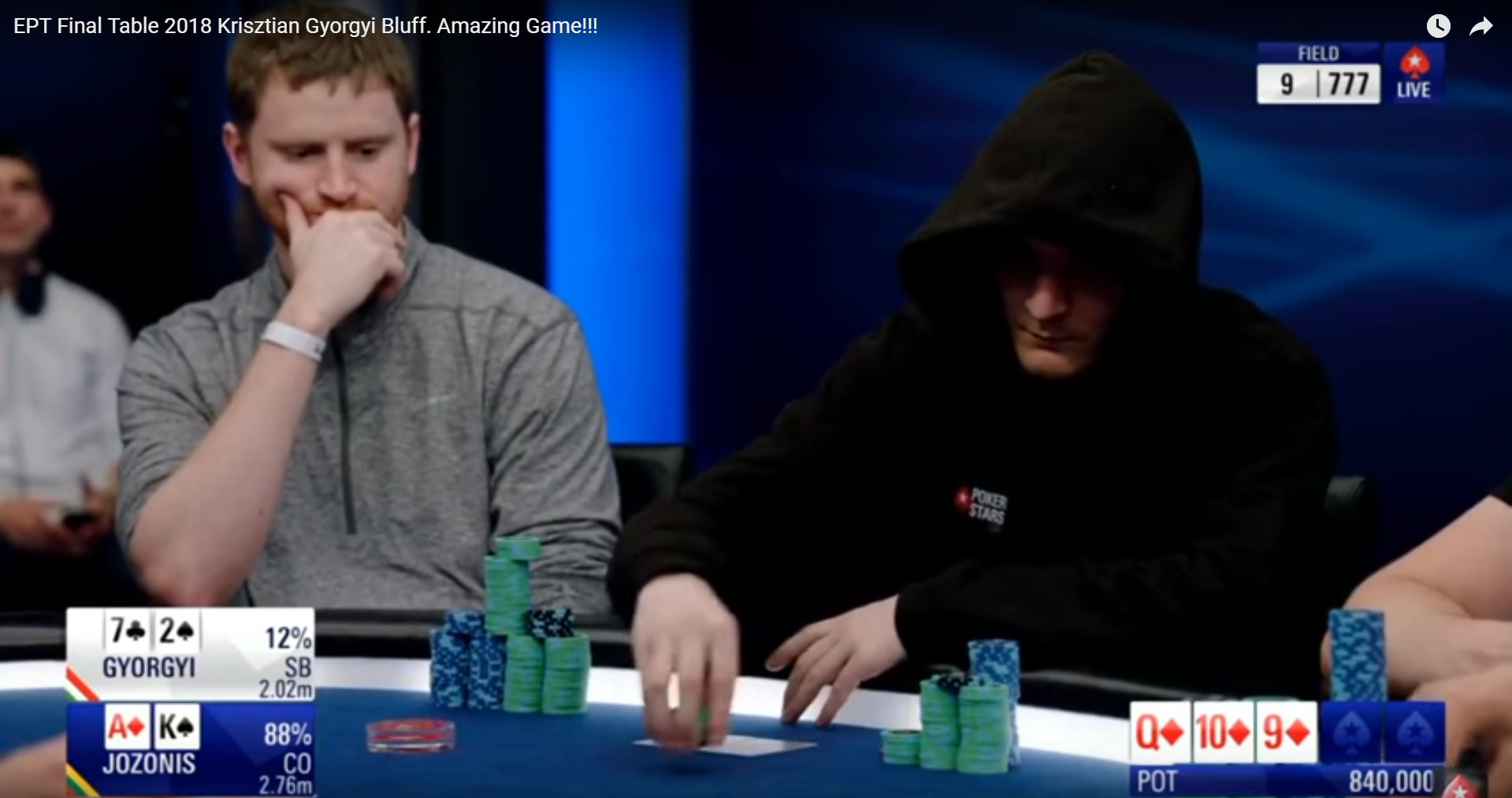 184 ezer euróval végzett az óriásit blöffölő magyar pókeres