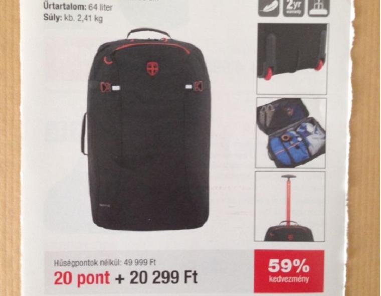 Ötvenezer helyett húszezerért ad a Spar egy olyan bőröndöt a kuponos akcióban, amit online azonnal megkapsz 17 ezerért