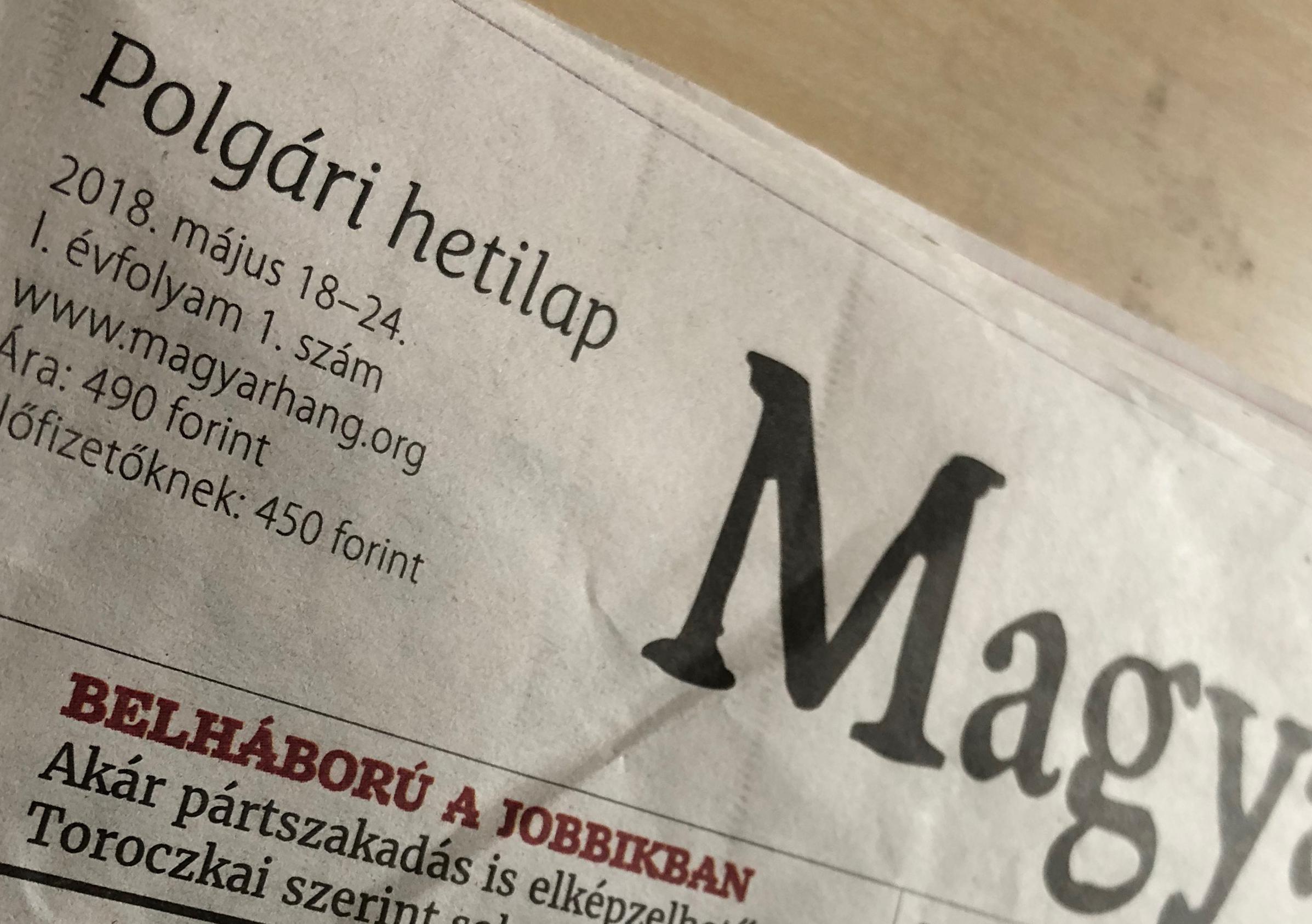 Magyar Hang néven, hetilapként éledt újjá a Magyar Nemzet