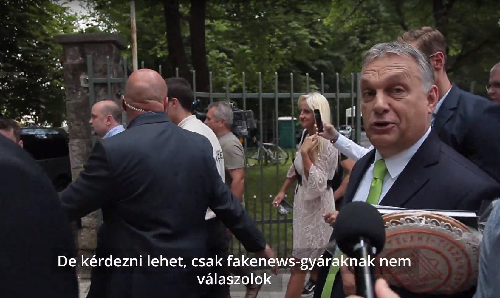 """Orbán: """"Az Index egy fakenews-gyár"""""""
