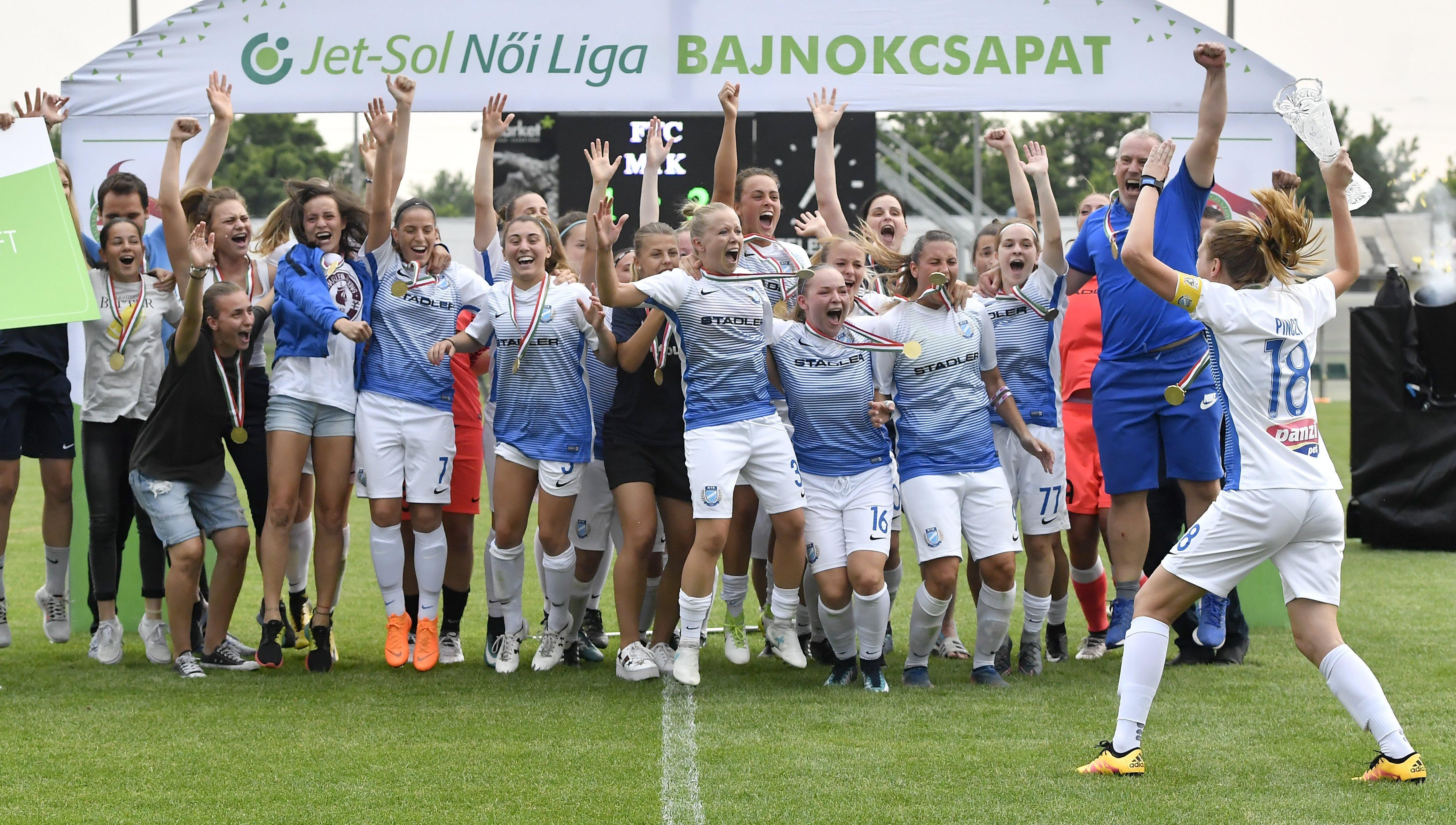 Az MTK nyerte a női focibajnokságot