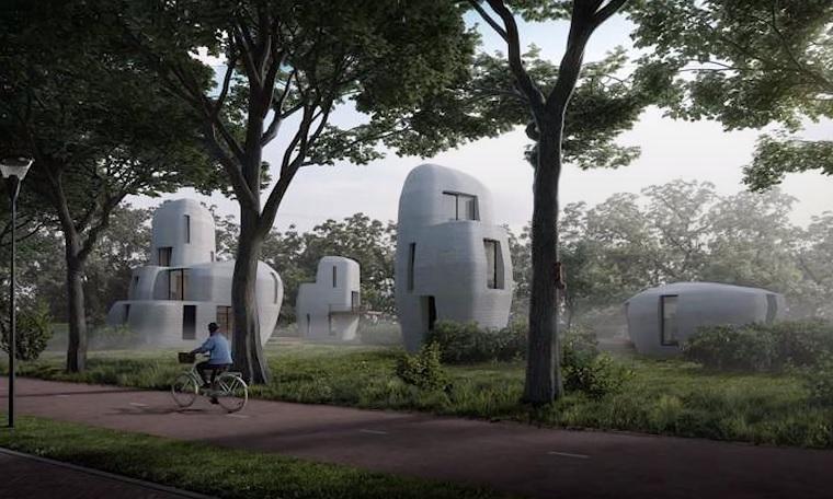 Eindhovenben építik meg a világ első, 3D nyomtatóval készített, lakható házait