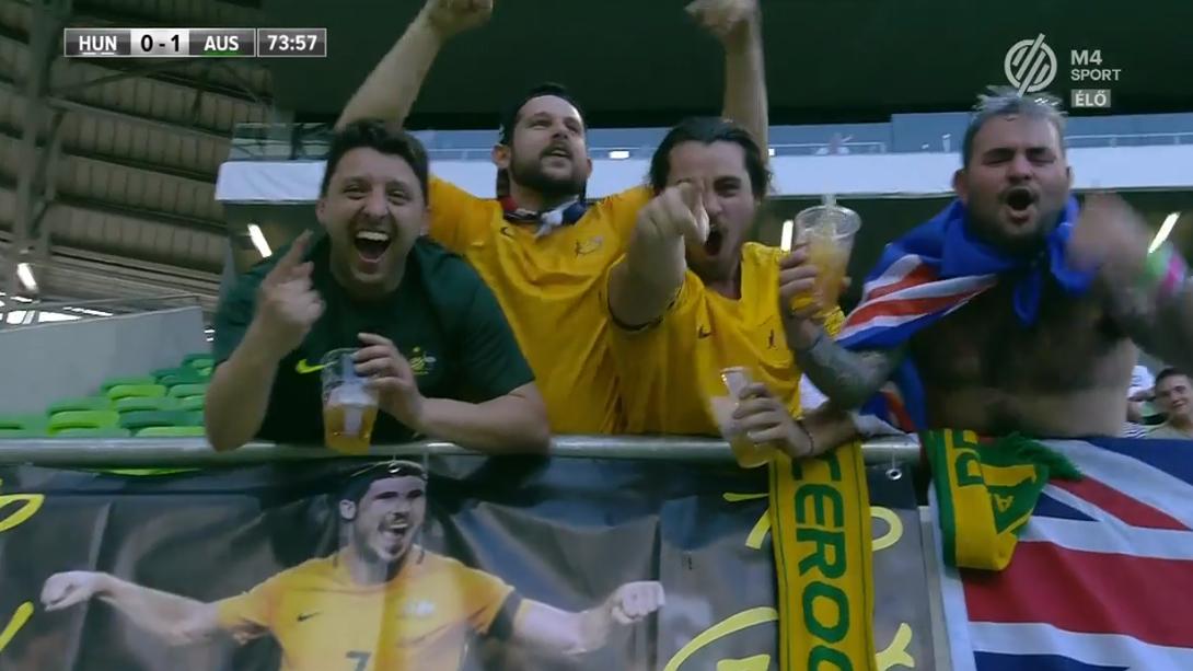 Ausztrália vezet Magyarország ellen