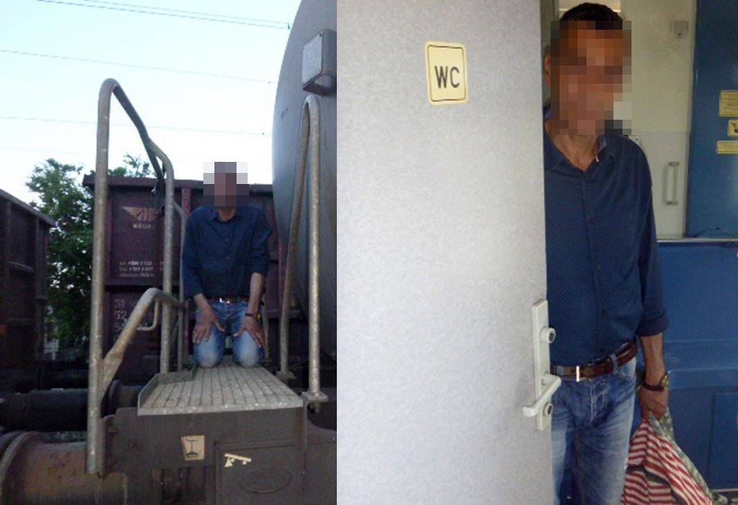 A rendőröknek fel sem tűnt, hogy egy nap kétszer is ugyanazt az illegális határátlépőt szedték le a két vonatról