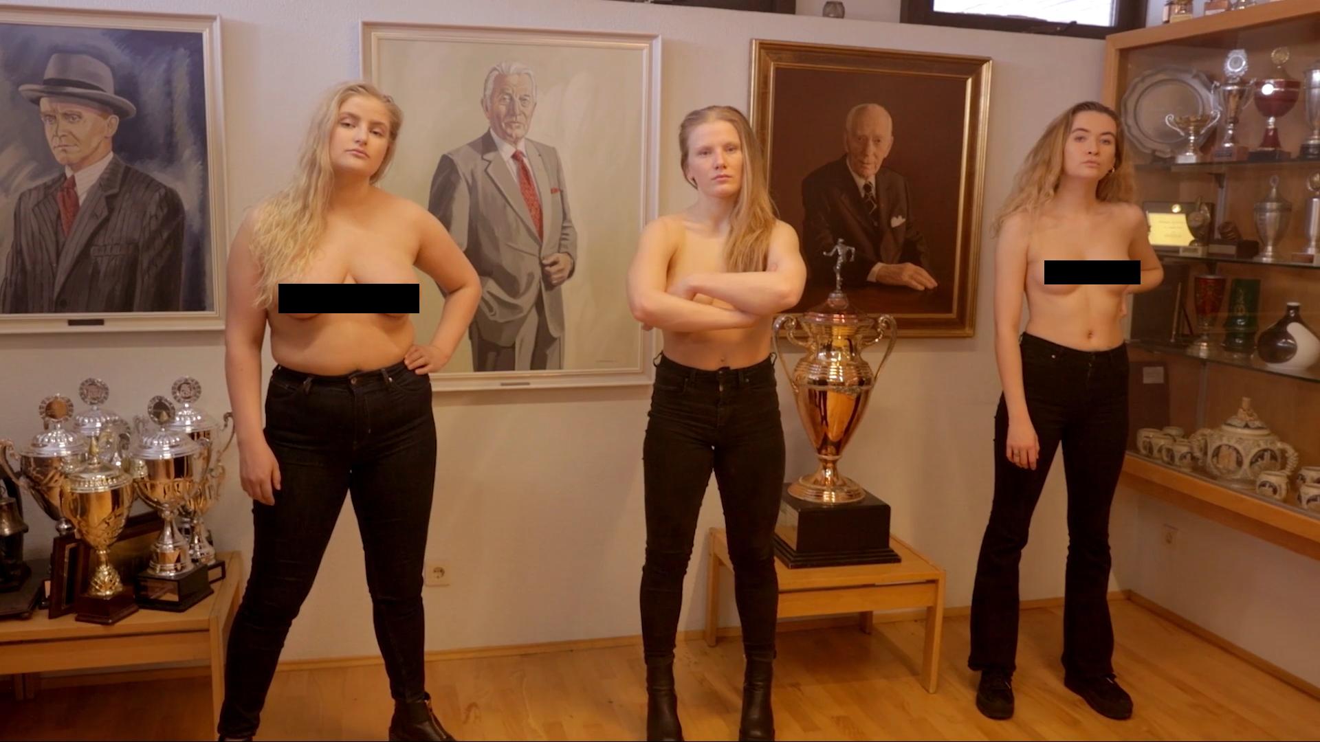Félmeztelen nőket fotóztak az izlandi parlamentben, kiakadt az egyik képviselő