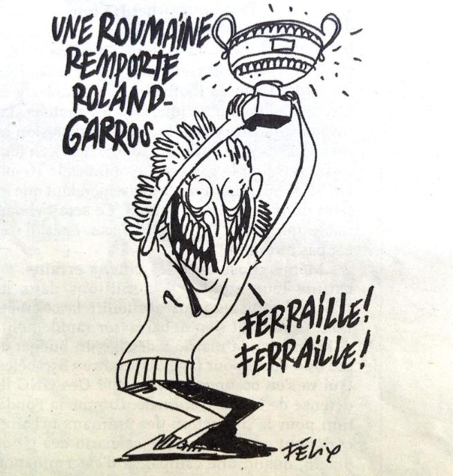 Beperelték a Charlie Hebdót a román teniszezőnőt lecigányozó karikatúra miatt