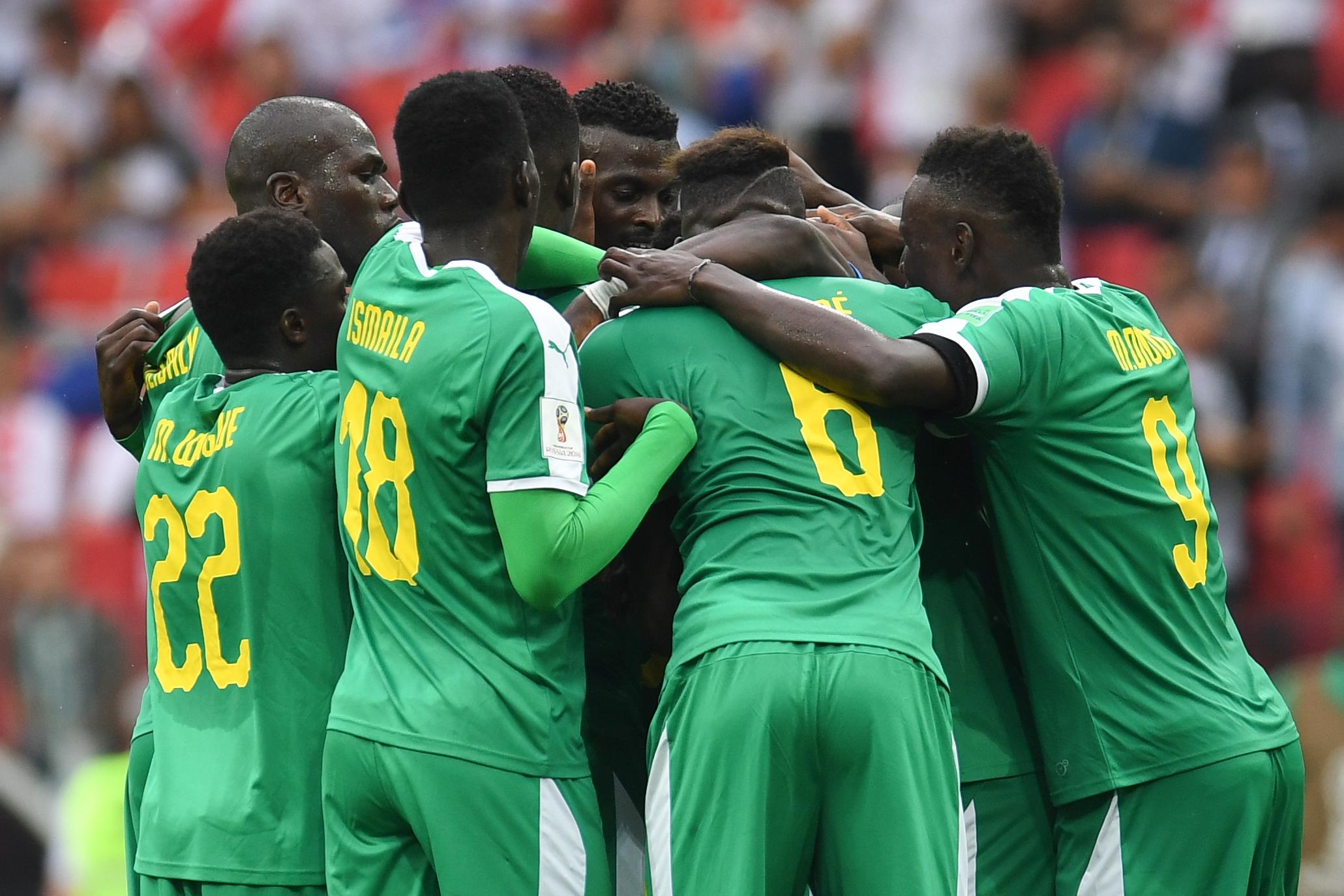 A félidőben Szenegál vezet Lengyelország ellen